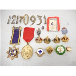 ASSORTED MILITARY PINS