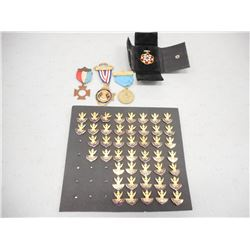 ASSORTED MASON PINS AND MEDALS
