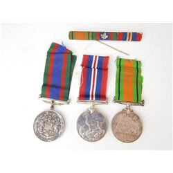 WWII RIBBON BAR & MEDALS