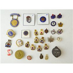 ASSORTED LEGION & SERVICE PINS