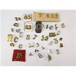 ASSORTED NUMERICAL & DIVISION PINS