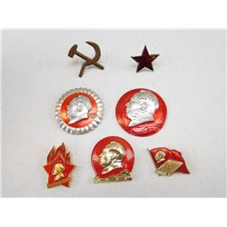 ASSORTED COMMUNIST PINS