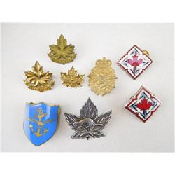 ASSORTED CANADIAN MILITARY FORCES PINS AND BADGES