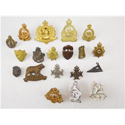 ASSORTED CANADIAN CAP & COLLAR BADGES