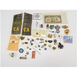 ASSORTED MILITARYY/ NON MILITARY PINS & PIECES