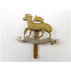 THE QUEEN'S ROYAL REGIMENT CAP BADGE