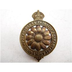 PRINCESS PATRICIA LIGHT INFANTRY CAP BADGE