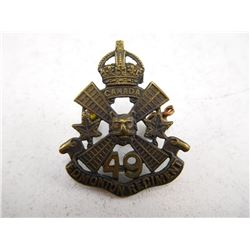 49TH EDMONTON REGIMENT CAP BADGE