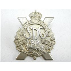 STORMONT DUNDAS & GLENGARRY REGIMENT CAP BADGE