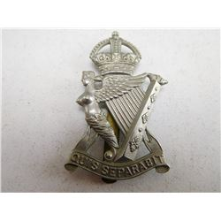 ROYAL ULSTER RIFLES CAP BADGE