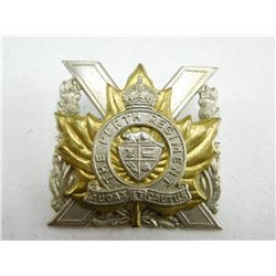 THE PERTH REGIMENT CAP BADGE