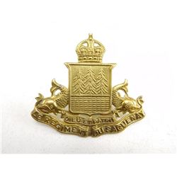 LE REGIMENT DU SAGUEUNAY CAP BADGE