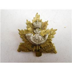 ROYAL HAMILITON LIGHT INFANTRY CAP BADGE