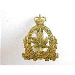 THE BRITISH COLUMBIA DRAGOONS CAP BADGE