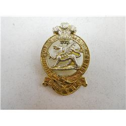 QUEEN'S REGIMENT 'STAYBRITE' CAP BADGE