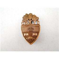 UNIVERSITY OF TORONTO CAP BADGE
