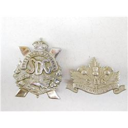 STORMONT DUNDAS & GLENGARRY REGIMENT CAP & COLLAR BADGE