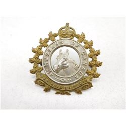 4TH HUSSARS OF CANADA CAP BADGE
