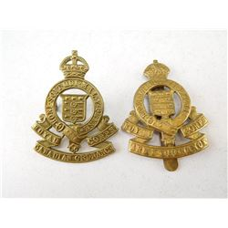 ROYAL ARMY & CANADIAN  ORDNANCE CORPS CAP BADGES