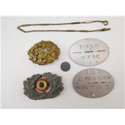 ASSORTED GERMAN WWII ITEMS