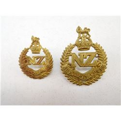 NEW ZEALAND CAP & COLLAR BADGE