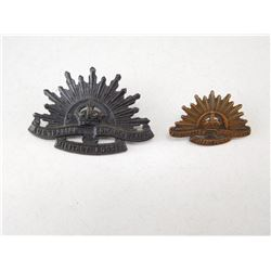 AUSTRALIAN CAP & COLLAR BADGE