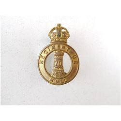 REGIMENT DE HULL COLLAR BADGE