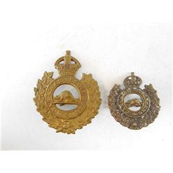 CANADIAN ENGINEERS CAP & COLLAR BADGE
