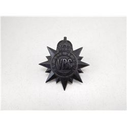VICTORIAN RIFLES OF CANADA CAP BADGE
