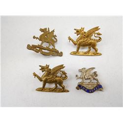 THE BUFFS REGIMENT CAP & COLLAR BADGES
