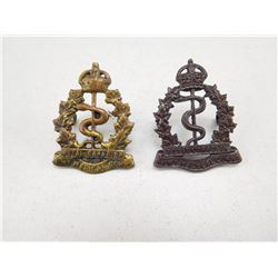 ROYAL CANADIAN ARMY MEDICAL CORPS CAP BADGE