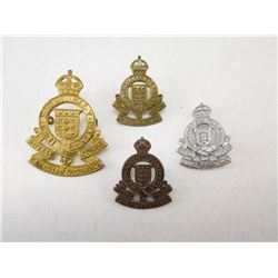 ROYAL CANADIAN ORDNANCE CORPS CAP & COLLAR BADGE