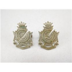 DUFFRIN & HALDIMAND RIFLES OF CANADA COLLAR BADGES