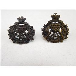 43RD REGIMENT CAP BADGES