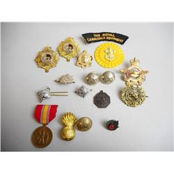 ASSORTED CAP BADGES & BUTTONS