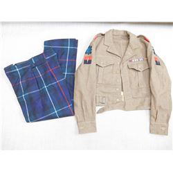 WWII BRITISH JACKET & TROUSERS