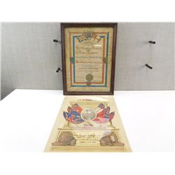 ASSORTED RECOGNITION CERTIFICATES