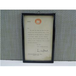 FRAMED MILITARY ARTICLES