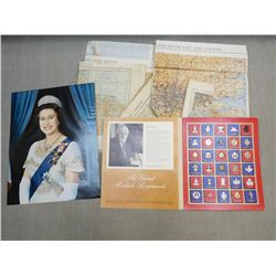 ASSORTED BRITISH PRINTS AND MAPS