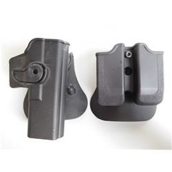 GLOCK HOLSTER AND MAGAZINE HOLDER