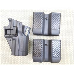 BLACKHAWK P30 HOLSTER AND MAG HOLDERS