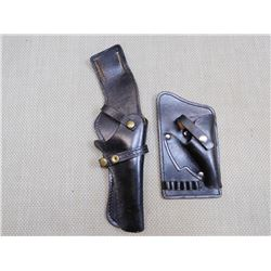 2 LEATHER PISTOL HOLSTERS