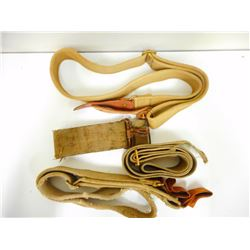 4 VINTAGE CANVAS LEE ENFIELD TARGET SHOOTING SLINGS