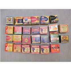 ASSORTED ANTIQUE AMMO BOXES
