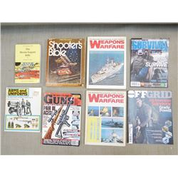 2 HARD COVER AND 6 SOFT COVER BOOKS/MAGAZINE