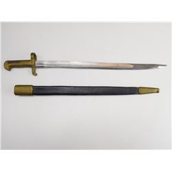 REPRODUCTION OF AMERICAN 1855 BAYONET WITH SCABBARD