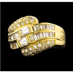 1.79 ctw Diamond Ring - 18KT Yellow Gold