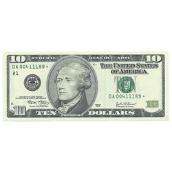 2003 $10 Federal Reserve Star Note CHC