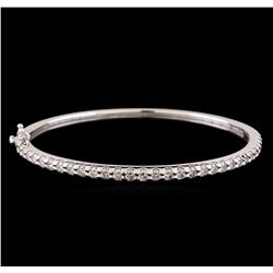 14KT White Gold 2.68 ctw Diamond Bangle Bracelet