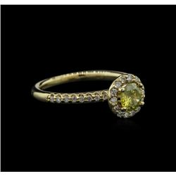 0.78 ctw Yellow Diamond Ring - 14KT Yellow Gold